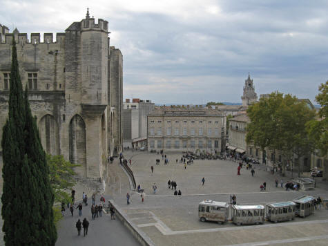 Palace Square in Avignon France